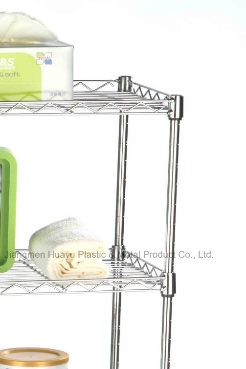 4-Shelf Wire Shelving Rack, OEM / ODM Wire Shelving Unit Storage Rack