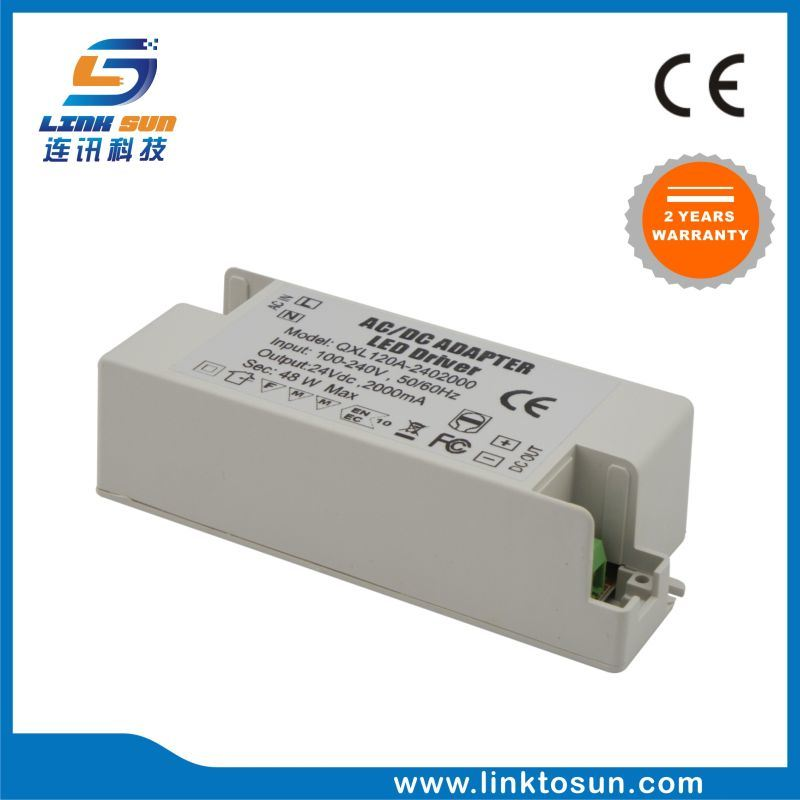 48W LED Power Supply DC 24V 2A Power Supply