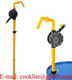 Aluminum Rotary Hand Pump / Rotary Hand Chemical Pump - 25mm 21L/Min