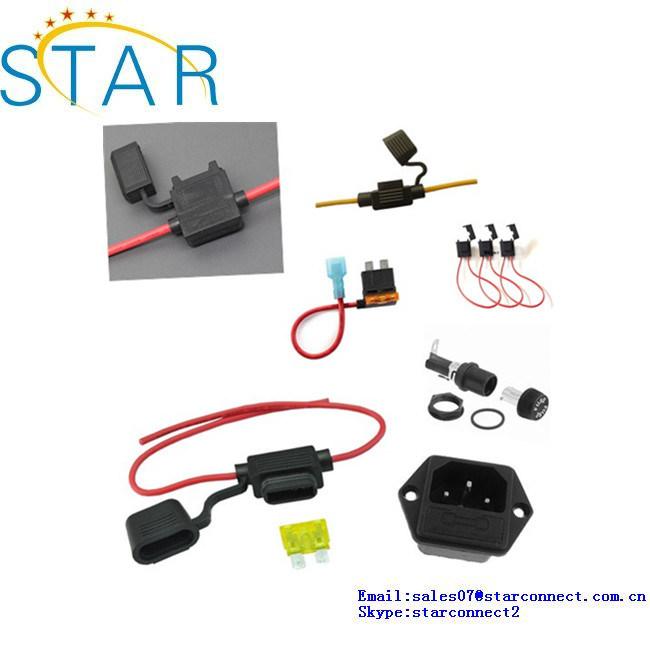 Custom Waterproof in-Line ATO/Atc Fuse Holder/Auto 12V Car Add-a-Circuit Fuse Tap Adapter Mini ATM Apm