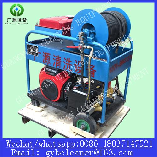 Gasoline Engine 180bar 50L/Min 24HP High Pressure Pipe Cleaner High Pressure Drain Cleaner