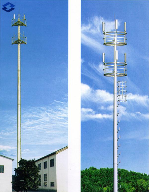 Galvanized Telecommunication Monopole Electric Steel Pole