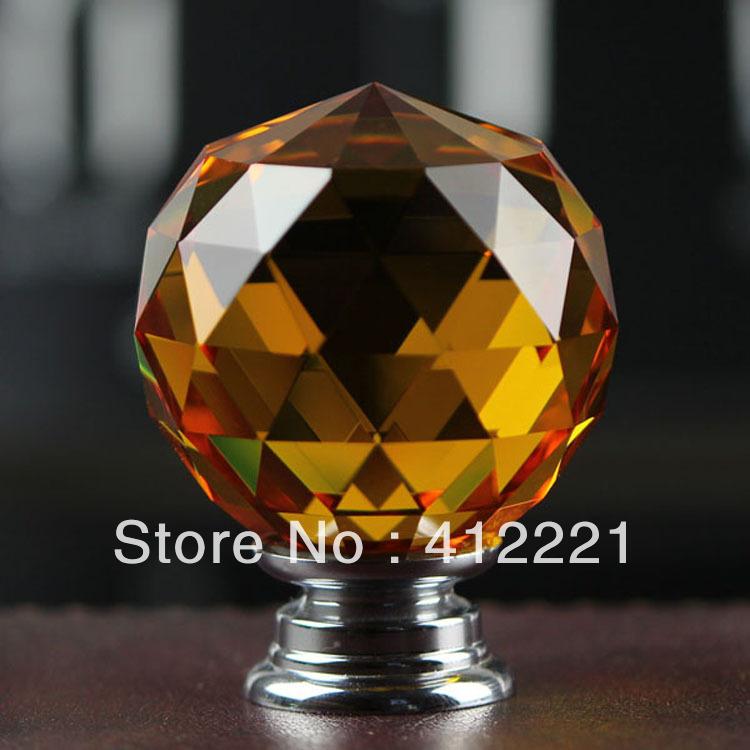 Clear Crystal Plain Ball Handle