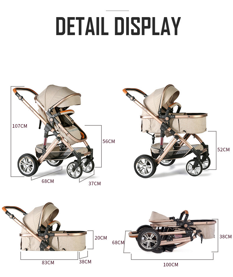 360 Degree Universal Front Wheels Baby Stroller on Sales