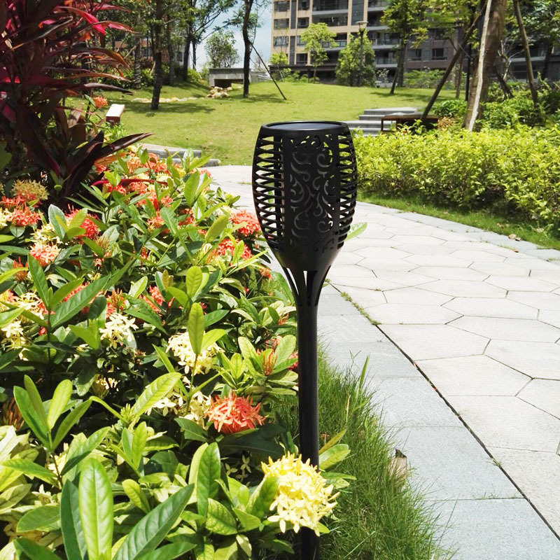 Hot Sale Solar Power Garden Light Outdoor Dancing Flame LED Light Fire Solar Light