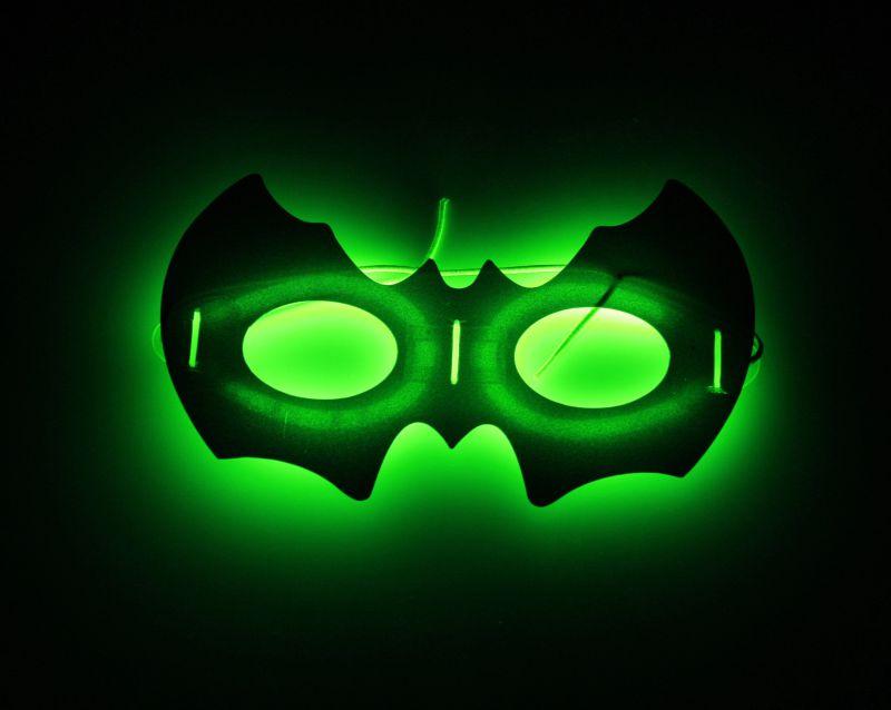 Halloween Glow Bat Mask