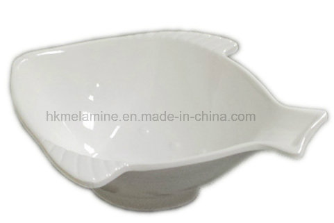 White Melamine Fish Shaped Bowl (BW7053)