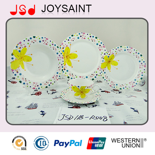 10'' Round Hand Painted Dinner Plate Porcelain Cup