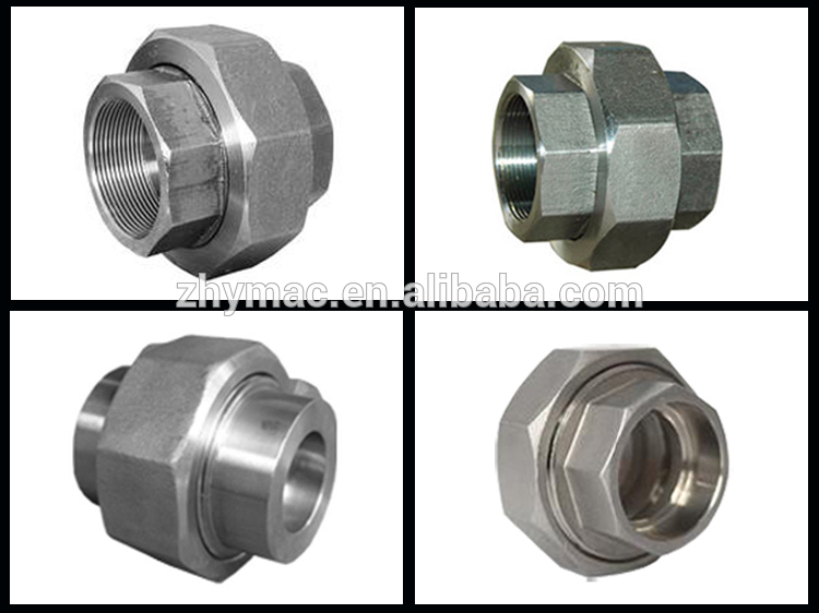 Drawing fitting threaded union coupling female