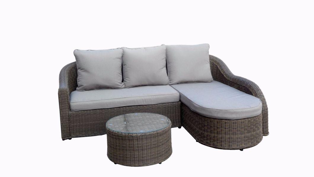 Modern Rattan Sofa Set with Aluminum