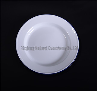 Enamel Dinner Logo Customized Round Plates for Food/Fruit