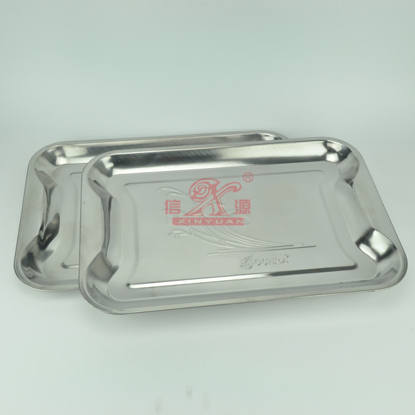 50*35cm Stainless Steel Food Tray (FT-00614)