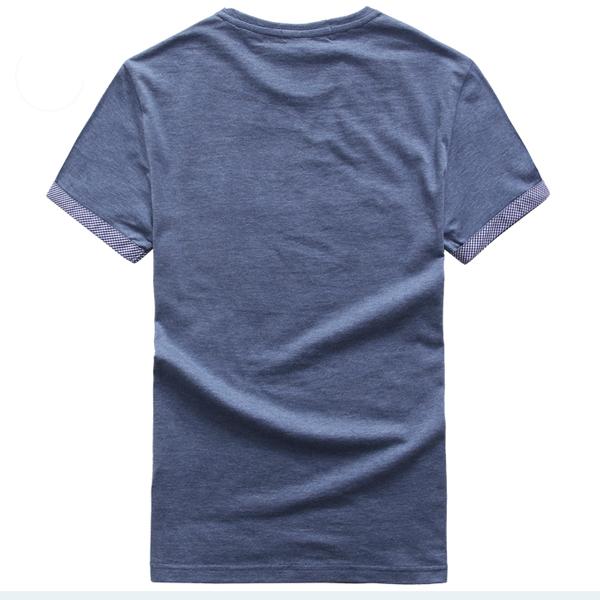 Plain Cotton Wholesale Pre-Shrunk T-Shirt for Men