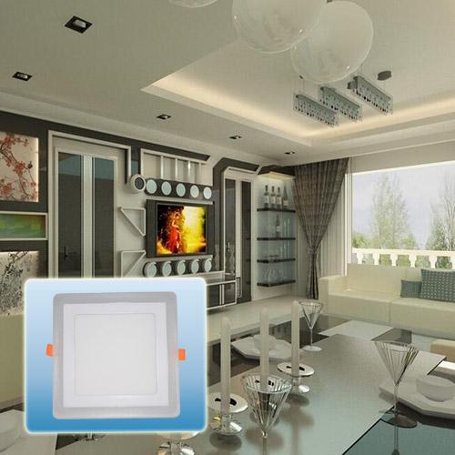 Efficient Energy Saving Double Color Square COB Light/LED Recessed Light