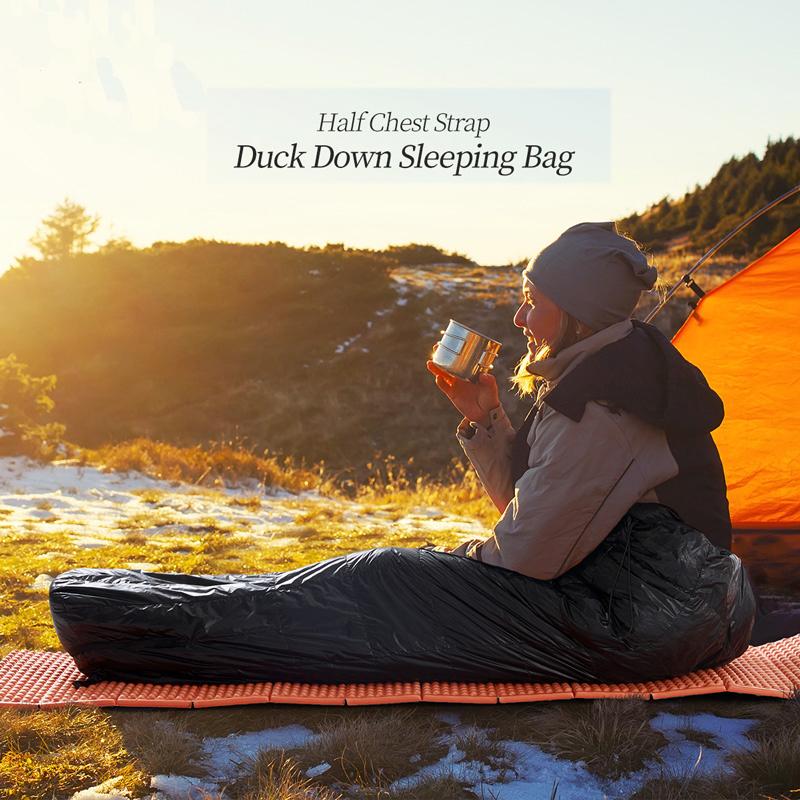 Outdoor Camping Winter Down Mummy China Sleeping Bag Manufacturer