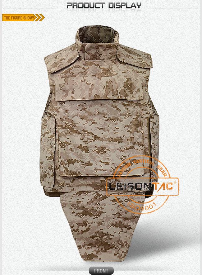 Ballistic Vest of Kevlar or Tac-Tex with Performance Nij Iiia