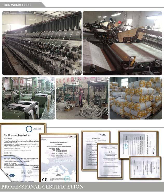 High Temperature Insulation Type Ceramic Fiber Braided Square Packing Rope