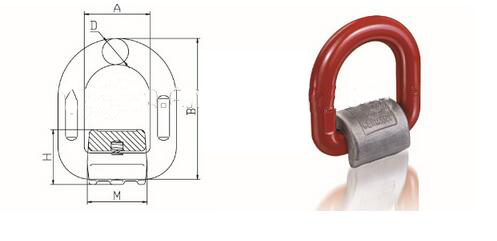 High Quality Carbon Steel Forged Locks D Ring