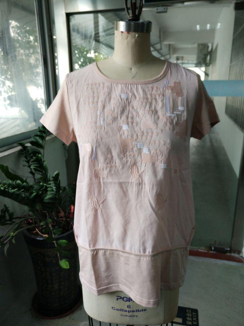 Summer Linen Comfortable Breathable Pink Fashion T-Shirt