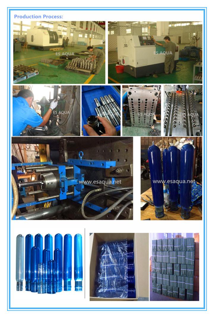 55mm Plastic Screw Thread 5 Gallon Bottle Water Pet Preform