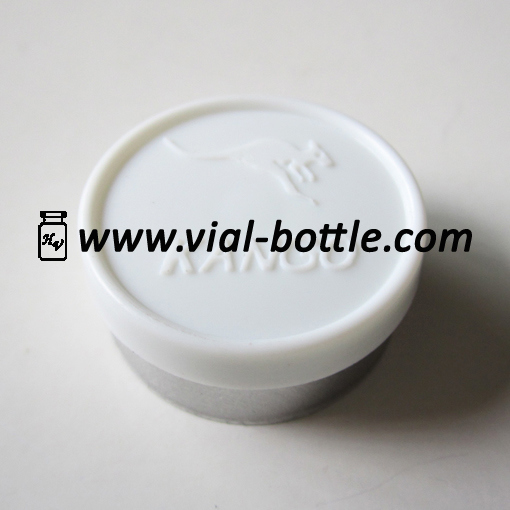 Custom 20mm Flip Tops with Logo Convex Type Plastic/Aluminum Vial Lid