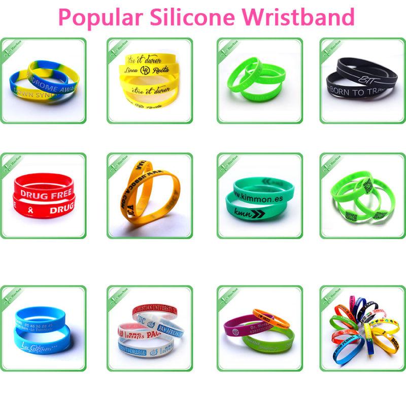 Custom Rubber Silicone Multicolor Anniversary Gift Silicon Bracelet