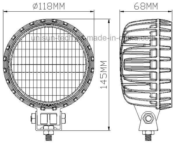 12V 24V 56W LED Marine Boat Work Light