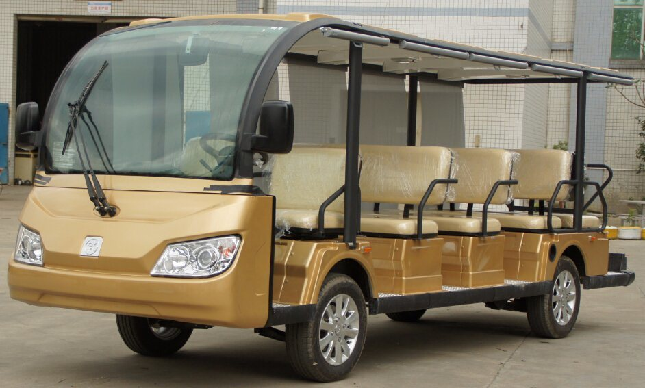 New Model Cheap 14 Seaters Electric Sightseeing Bus China