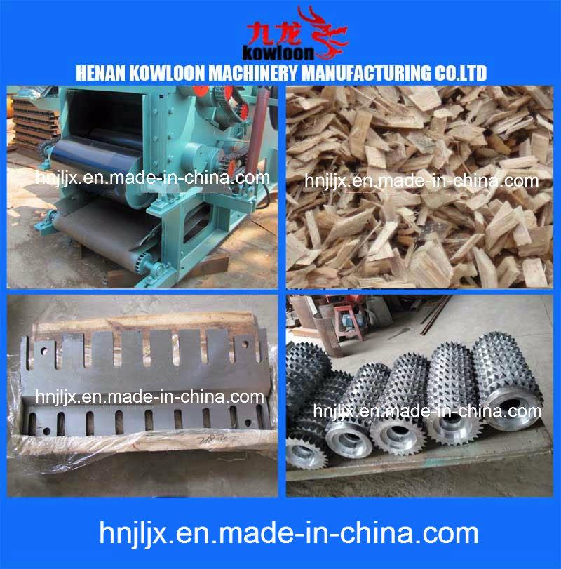 2-20tph Log/Branch/Pallet/Wooden Box Chipping Drum Type Wood Chipper Machine