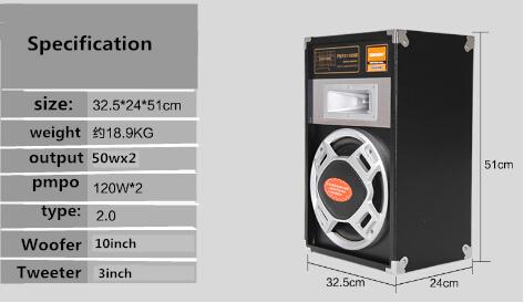10 Inch manufacture Audio Professional 2.0 Speaker 6010