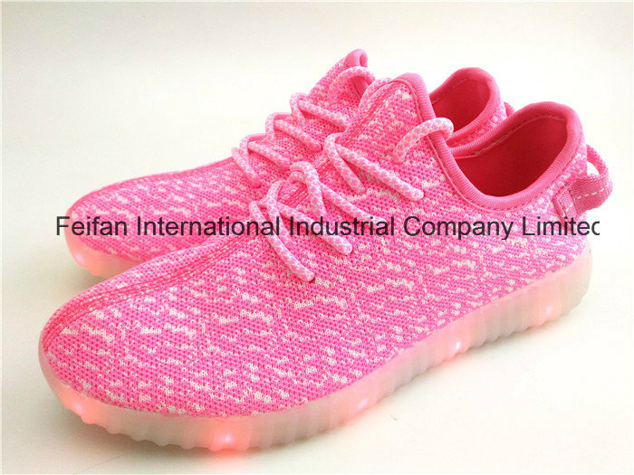 New Design LED Light Sports Shoes with Good Price Colorful Outdoor Casual Shoes Ffls-02