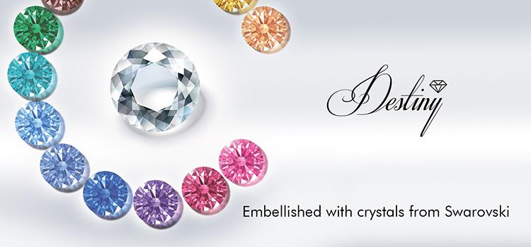 Destiny jewellery Crystal From Swarovski Round Perfect Cufflinks