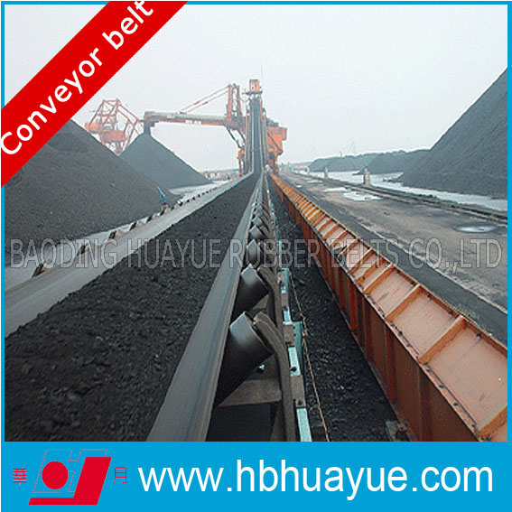 Rubber Conveyor Belting System Huayue China Well-Known Trademark Cc Cotton Ep Polyester Nn Nylon St Steel Pvcpvg100-5400n. N/mm