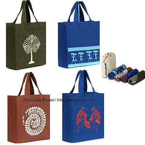 OEM Produce Large Cotton Logo Printed Promotional Reusable Shopping Bag