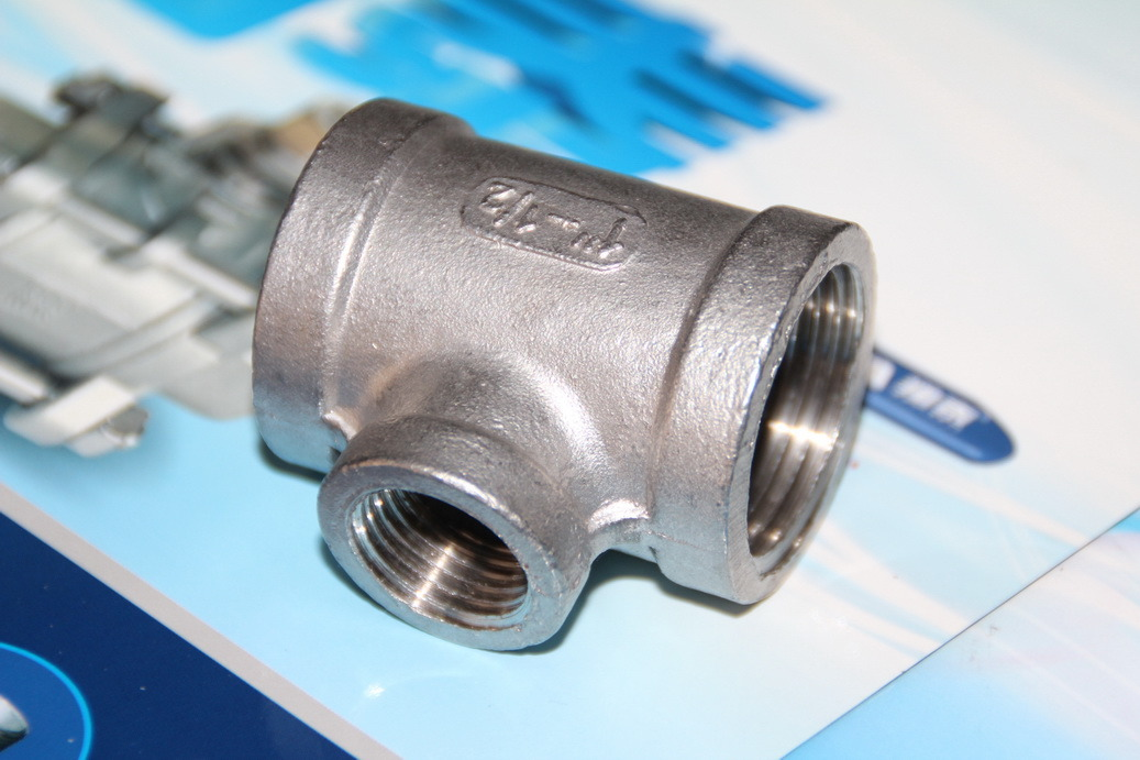 Stainless Steel Reducing Tee Thread End, 150psi