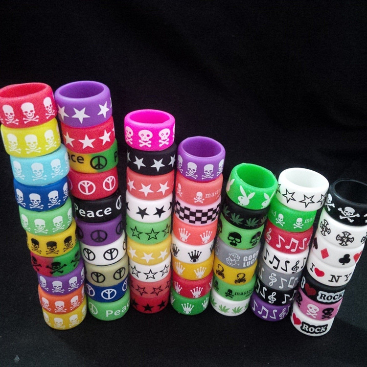 Concave Vape Band Decorative and Protection Mechanical Mod Colors Silicone Vape Band Vaporizer Band Ecig Vape Band