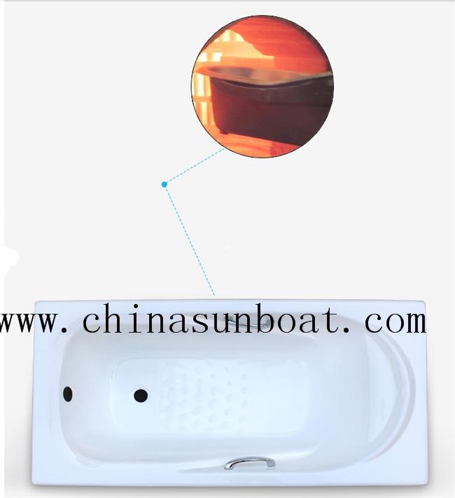 Enamel Cast Iron Built-in Bathtub