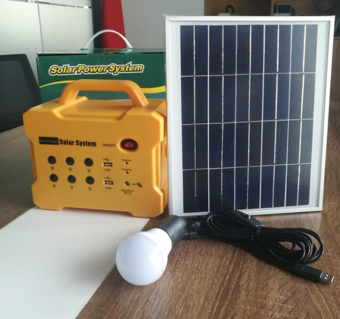 Portable DC Solar PV/Panel/Power/Energy/Home System with MP3/FM Radio