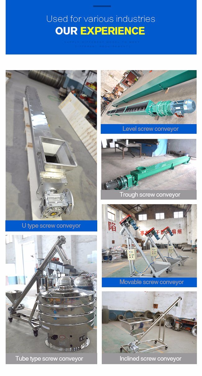 Inclined Stainless Steel Small Screw Conveyor with Hopper