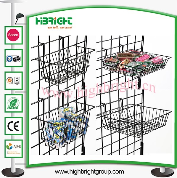 Supermarket Steel Wire Display Shelf
