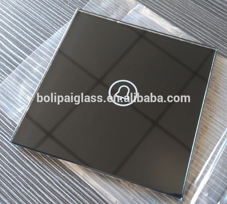 Colored Touch and Drilling Tempered Glass Glass Switch Plates for Custom Made