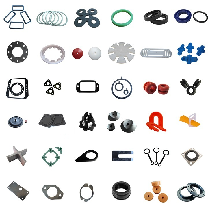 Custom Oval / Square / Round / Rectangle HNBR Rubber Washer Seal Spacer