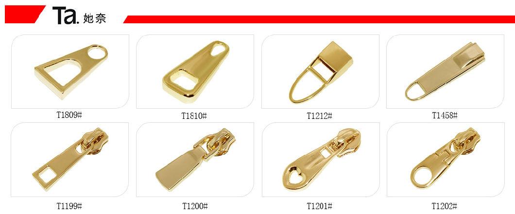 Zinc Alloy Zipper Puller Customize Logo Slider for Luggage