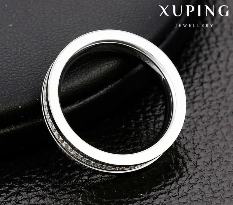 13945 Fashion Cool Cubic Zirconia Stainless Steel Jewelry Finger Ring