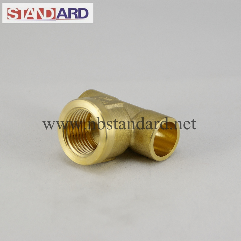 Brass Solder Fitting with Female Thread Tee