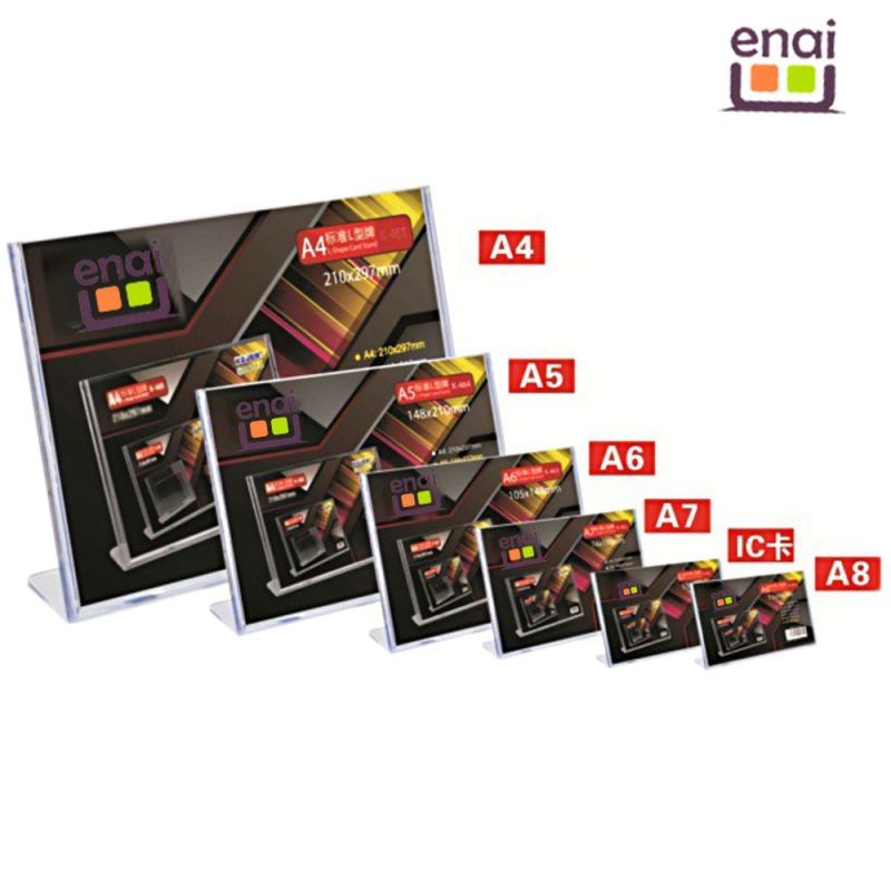 Hot Selling A5 Size PS Display Advertising and Exhibition Card Stand