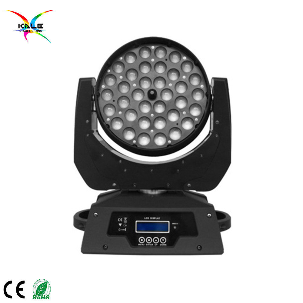 36PCS * 10W RGBW Wash LED Zoom Moving Head Light
