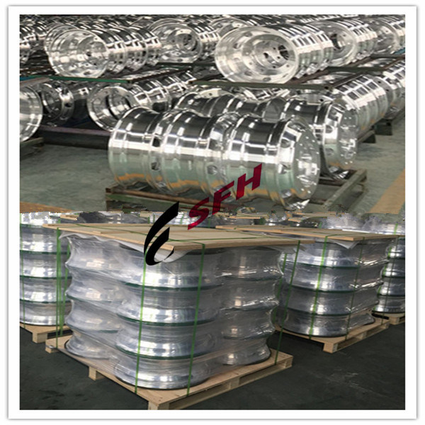 Stud Hub Piloted Polished Forged Aluminum Alloy Wheel Steel Wheel for All Trucks, Buses & Trailers