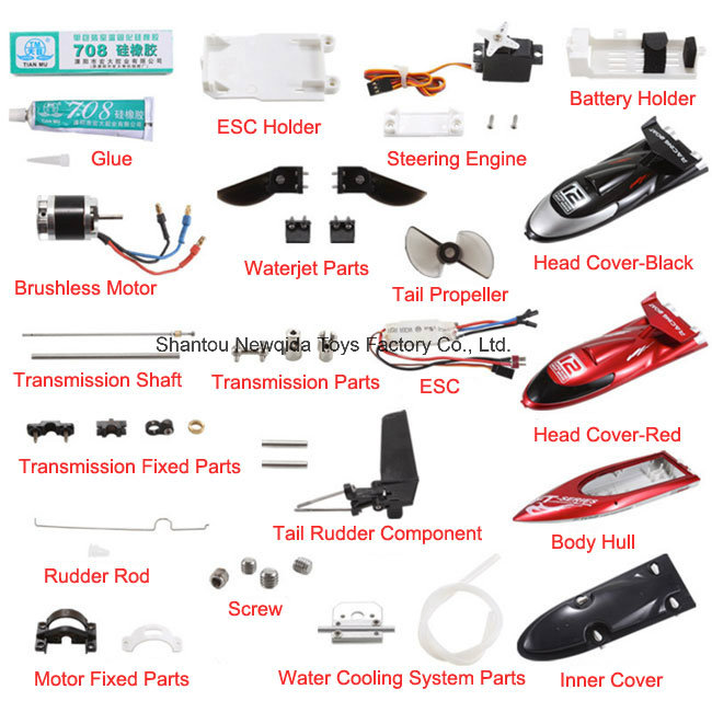 Replacement RC Servo Components for FT012 RC Boat Parts