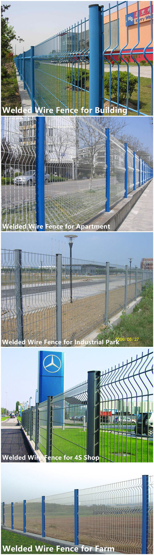 Easily Assembled China Wholesale Metal Steel Wire Mesh Fence (WWMF)